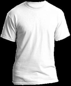 Ein leeres weißes T-Shirt, das gestaltet werden möchte.